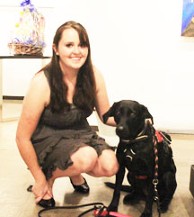 Devon Wright with Olive at the Diabetes Friendly Foundation Charity event.